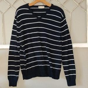 Mens J  Crew v neck cashmere blend sweater